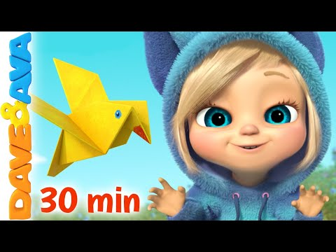 🐤-two-little-dicky-birds-and-more-nursery-rhymes-and-kids-songs-|-dave-and-ava-🐤