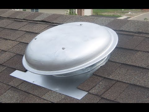 Installing a roof top attic fan  YouTube