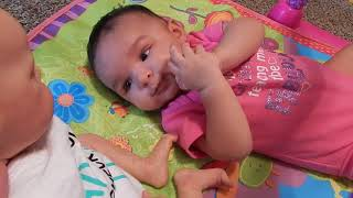 Real Baby Meets (Fake) Reborn Baby Doll!! Her Reaction is Priceless!