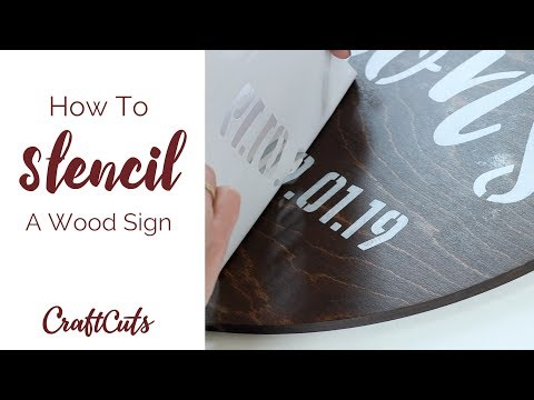 How to Stencil a Wood Sign - DIY | Craftcuts.com
