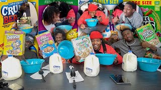 Who Can Finish A BOX Of CEREAL FIRST ! |  Winner Wins $10000
