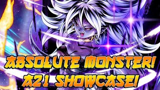 An Absolute MONSTER! Android 21 Showcase! | Dragon Ball Legends PvP