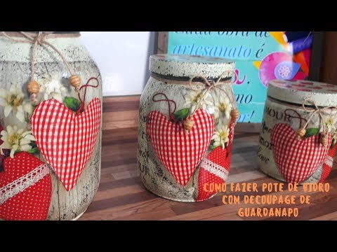 How to Make Glass Jar with Decoupage of Napkin