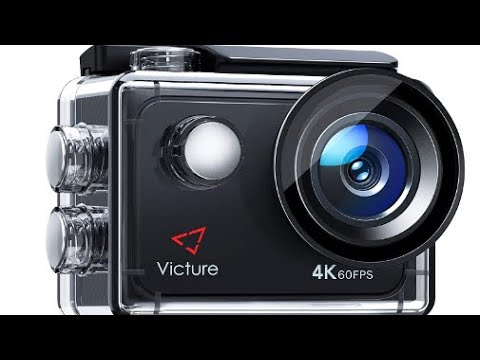 Victure 4K 60FPS Touch Screen Action Camera with 8X Zoom Remote Control Upgraded EIS 40M Underwater