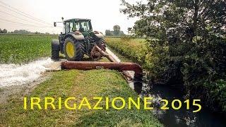 Irrigazione mais con idrovora
