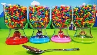 アンパンマン アニメ❤おもちゃ グラスビーズの中から何が出るかな? animekids アニメきっず animation Anpanman Toy