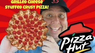 """Pizza Hut® """"Cheeselicious"""" Grilled Cheese Stuffed Crust Pizza Review!"""