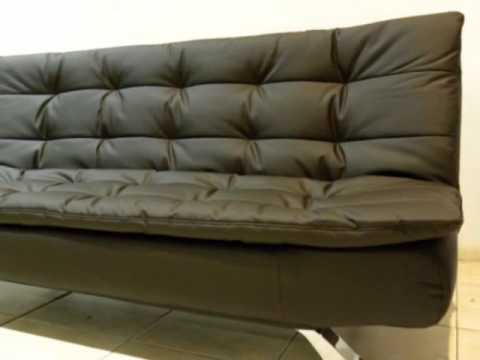 Sofa cama futon de 2 plazas deltacolchones youtube for Futon cama de dos plazas