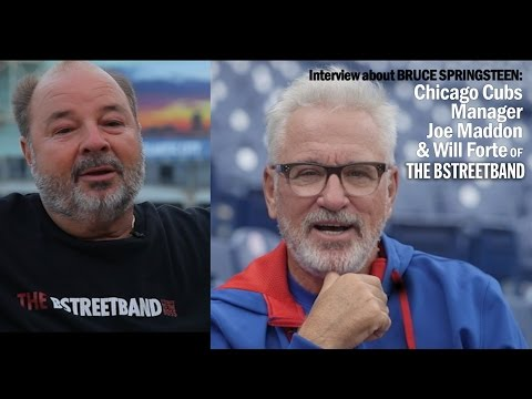 Chicago Cubs Manager Joe Maddon and Will Forte of the BSTREETBAND