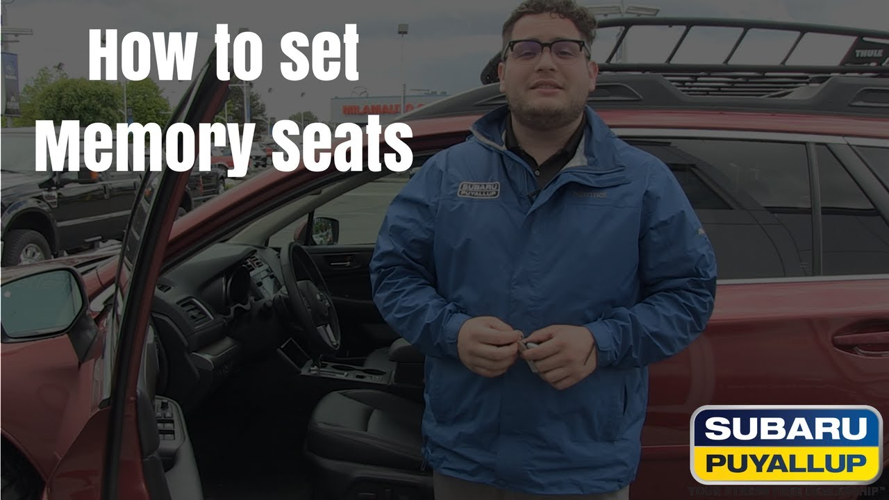 How To Set Memory Seats In A 2017 Subaru Outback Youtube Forester Fuse Box
