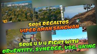 Soul vs ORxEntity, Synerge, Vsg Crawlers, 4King, Regaltos Viper Aman Sangwan building up Synerge 🔥