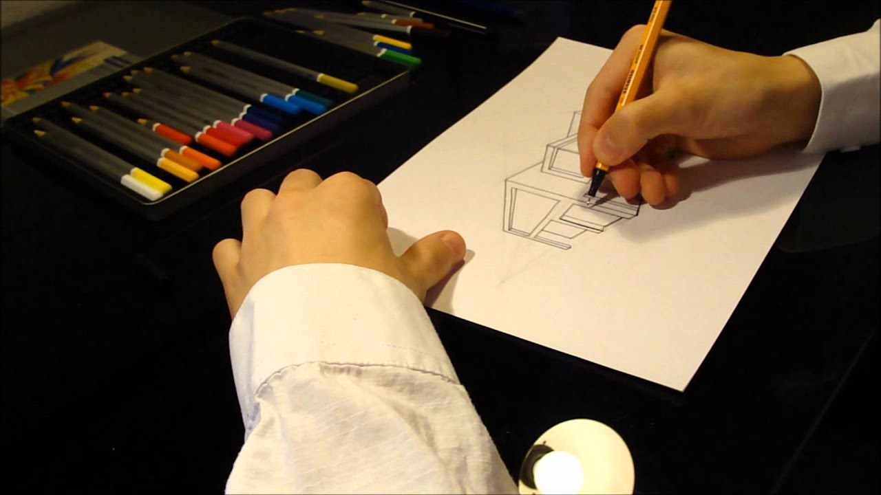 Architecture Houses Drawings modern architecture house drawing - youtube