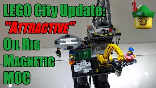 """LEGO City Update - """"Attractive"""" Oil Rig Magnetic MOC 9486 🛢🌊🐠🦞🏹"""