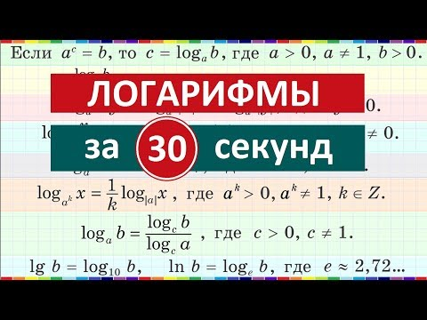 Логарифмы за 30 секунд