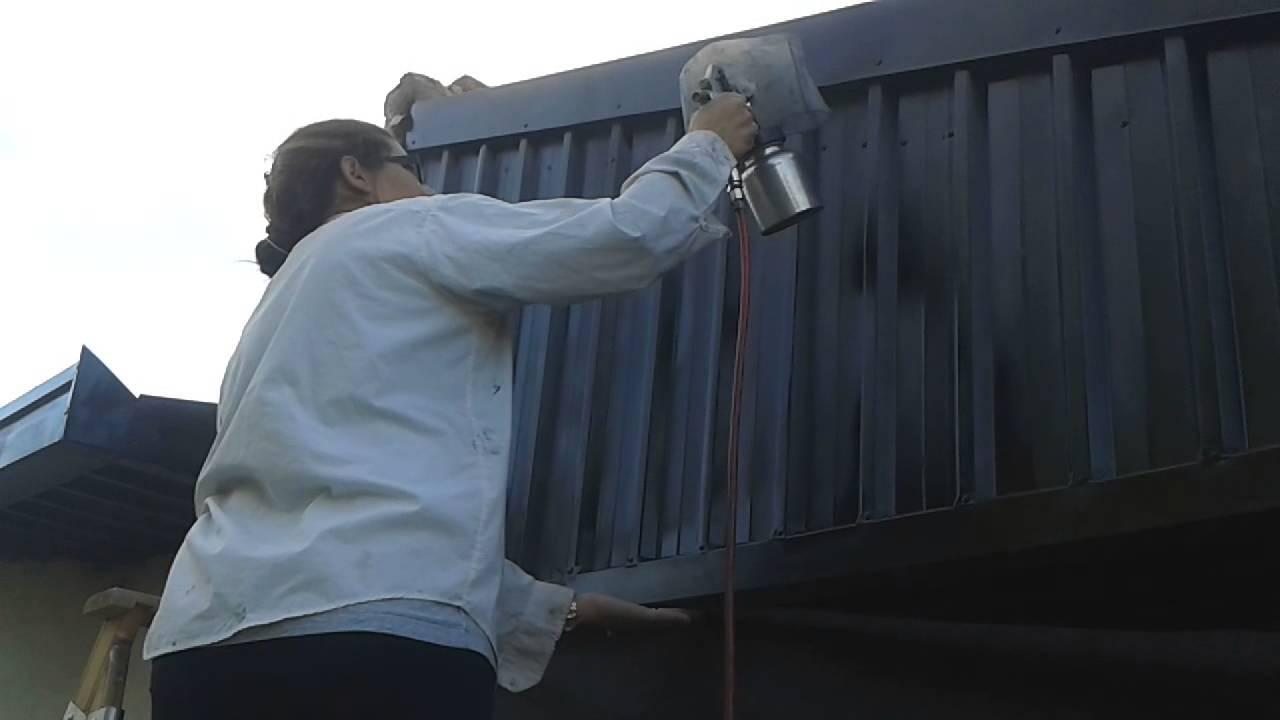 Como pintar chapas de zinc youtube - Como pintar techos ...