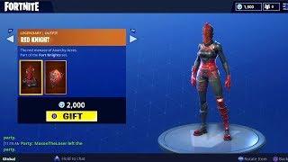 Fortnite GIFTING Red Knight Skin (Pro 1v1)