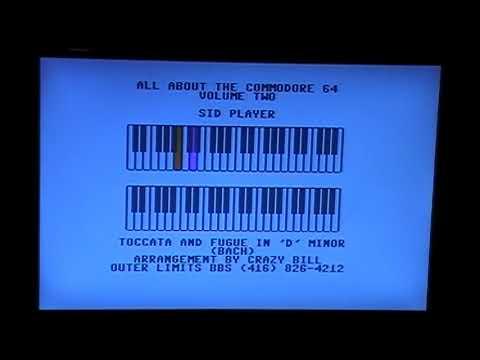 "Toccata & Fugue In ""D"" Minor Bach - David Bradley - 64 C-64 128 C-128 6581 Rollberball"