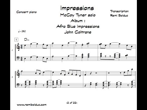 McCoy Tyner solo on Impressions