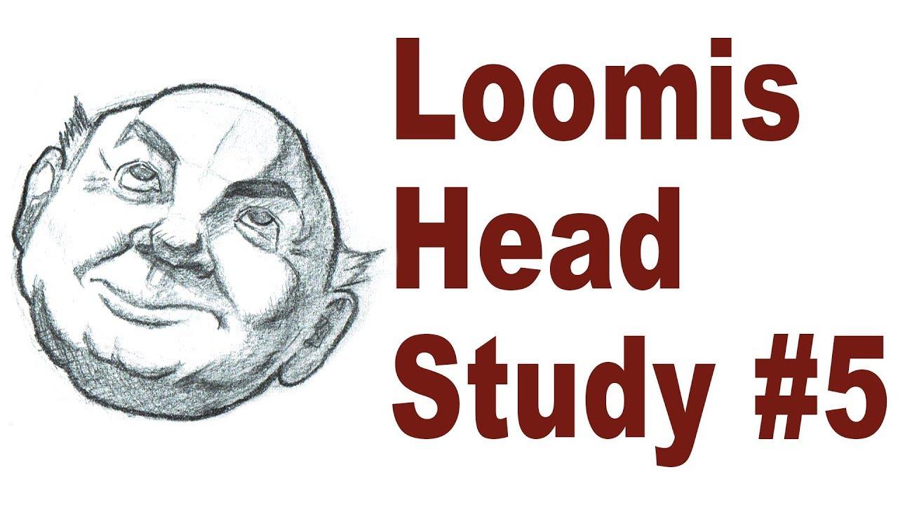Sketching A Cartoon Head In Perspective Andrew Loomis Drawing