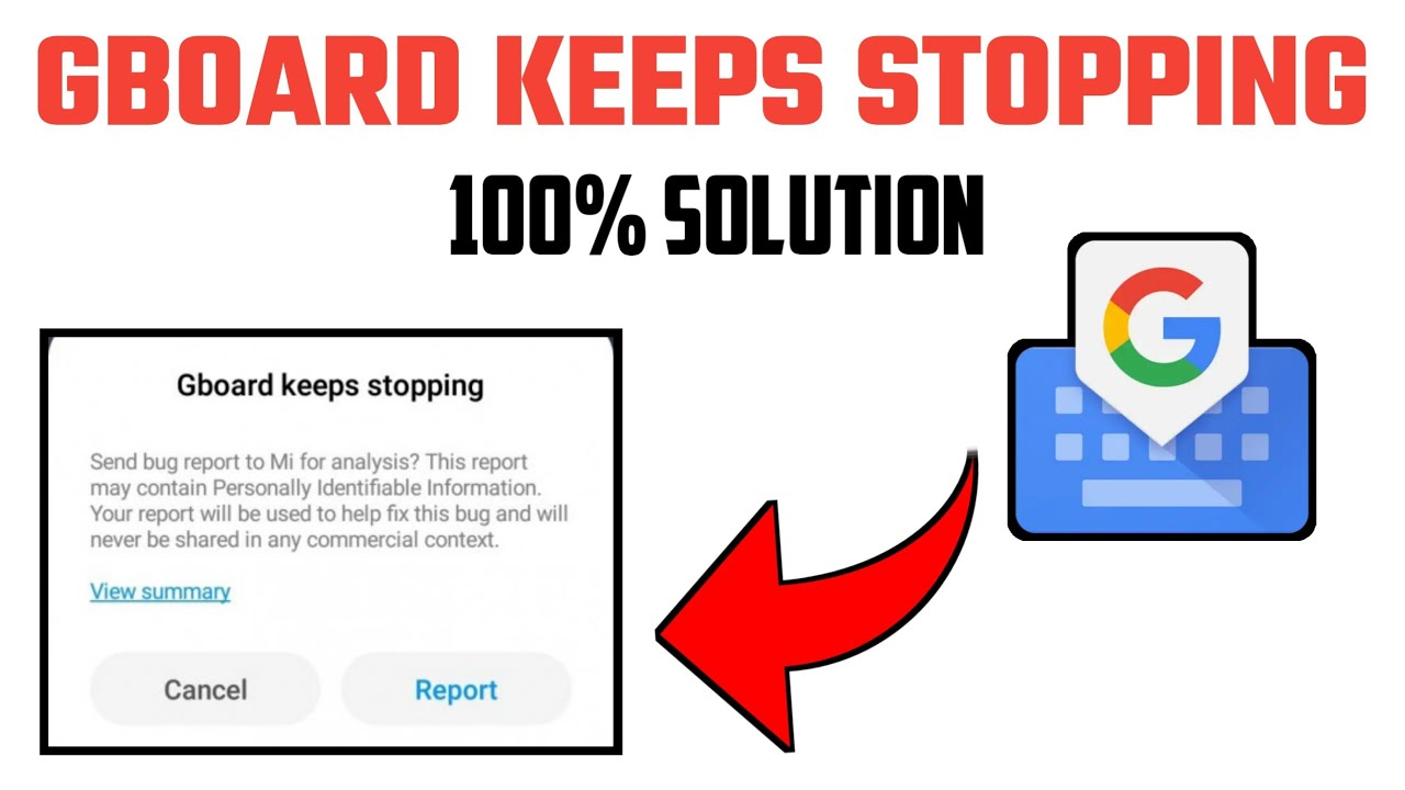 gboard keeps stopping | HOW TO SOLVE GBOARD KEEPS STOPPING | how to fix gboard  keeps stopping - YouTube