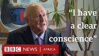 South Africa's FW De Klerk on apartheid, Mandela and Ramaphosa - BBC Africa