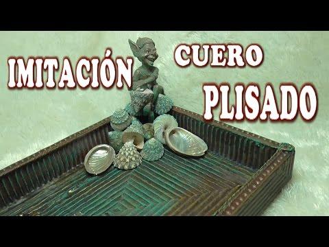 CAJA DE CARTON RECICLADO - IMITATION LEATHER PLEATED