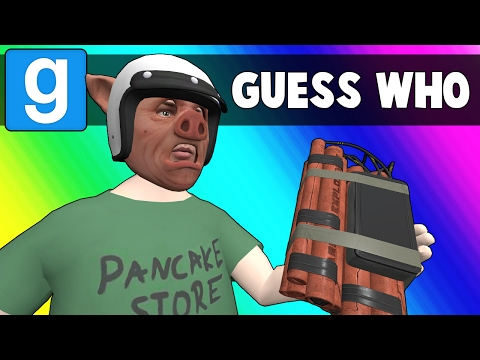Gmod Guess Who Funny Moments - Cursed Casino Mirror (Garrys Mod)