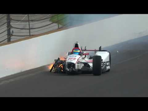 Sebastien Bourdais Turn 2 Incident During Indy 500 Qualifying