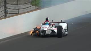 Sebastien Bourdais Turn 2 Incident During Indy 500 Qualifying