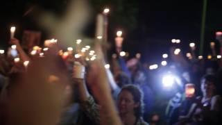 Charlottesville vigil - Lee Park