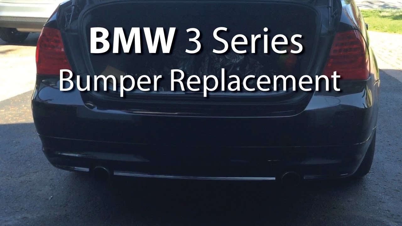 bmw rear bumper replacement  BMW: Bumper Replacement EASY! (Step-by-Step) - YouTube