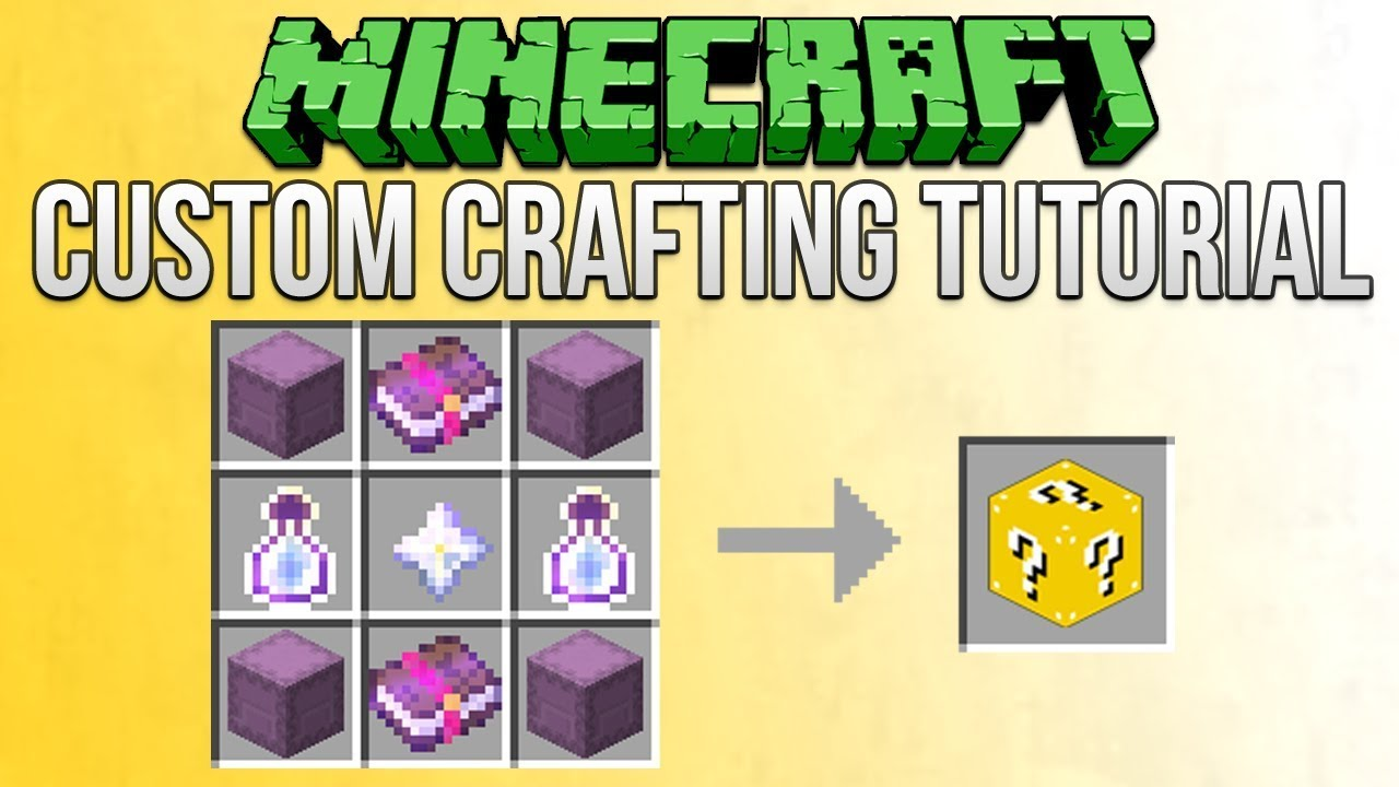 Minecraft Karte Rezept.Minecraft 1 13 How To Make Custom Crafting Recipes Tutorial