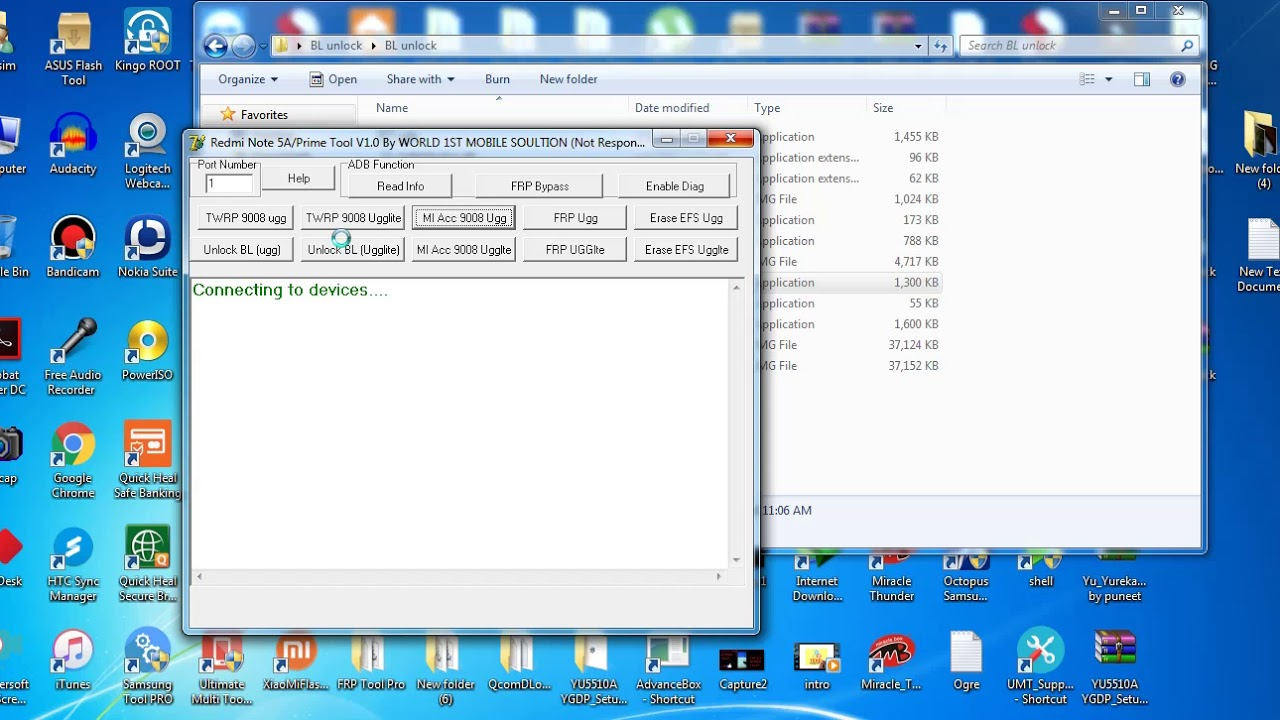 Redmi 5A/Prime Tool, Remove FRP/Mi Account for free
