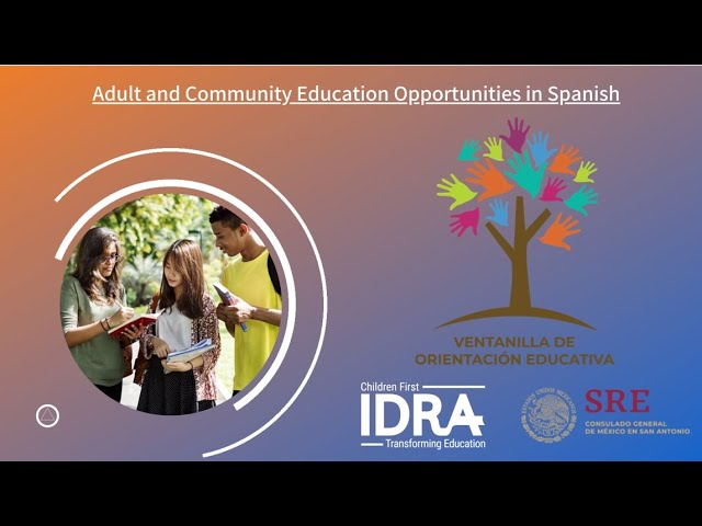 Adult and Community Education Opportunities in Spanish – IDRA VOE Webinar