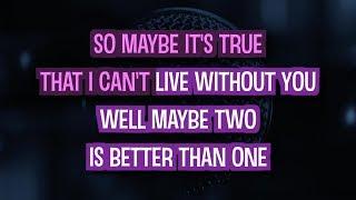 Two Is Better Than One (Karaoke Version) - Boys Like Girls feat. Taylor Swift | TracksPlanet