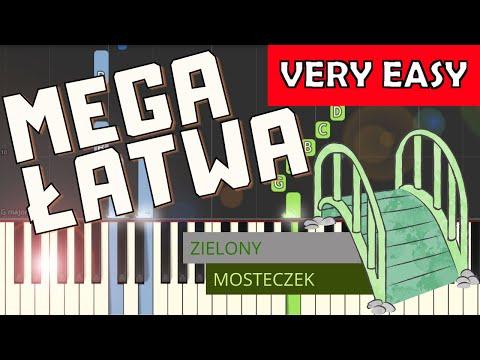 🎹 Zielony mosteczek - Piano Tutorial (MEGA ŁATWA wersja) 🎹