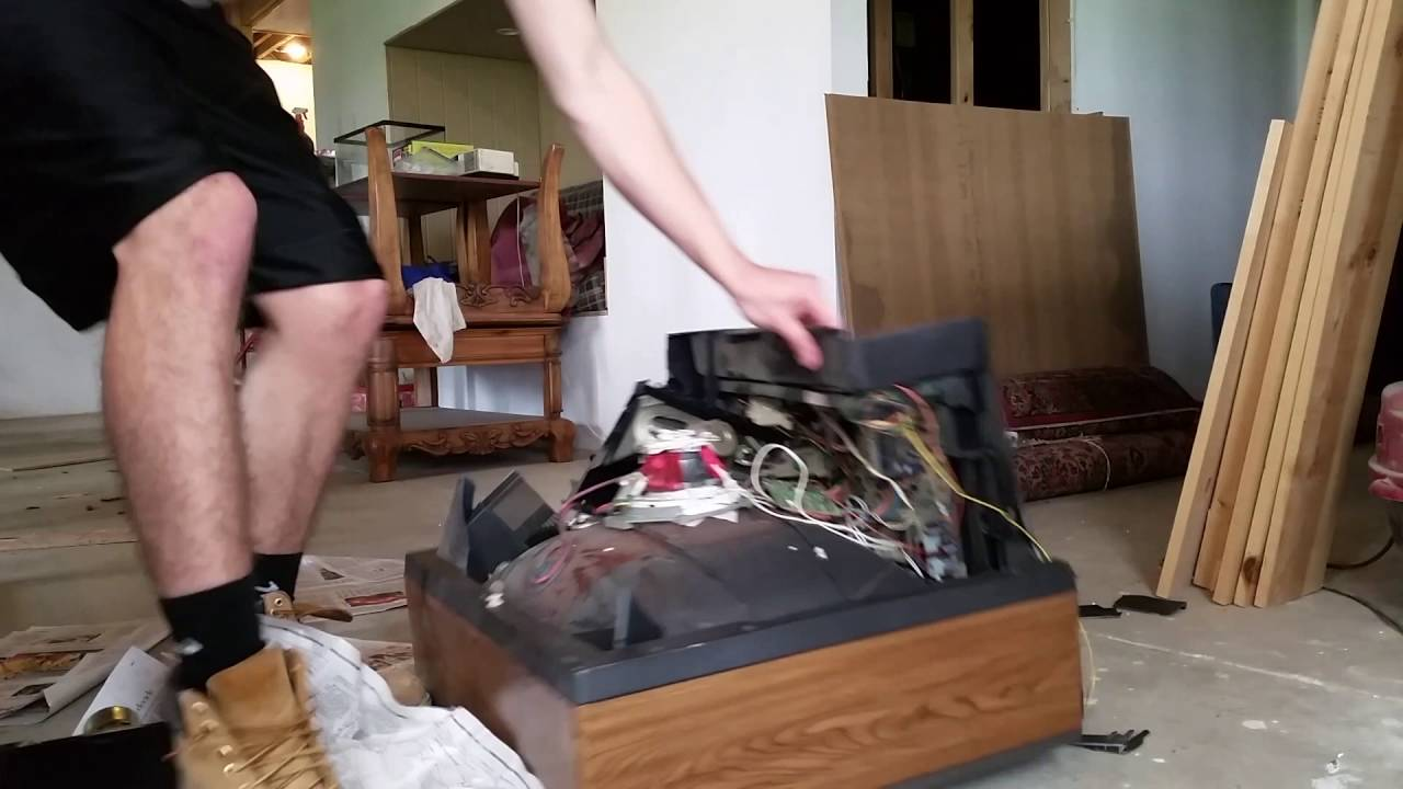 male feet destroy a tv custom video male man foot feet fetish youtube. Black Bedroom Furniture Sets. Home Design Ideas