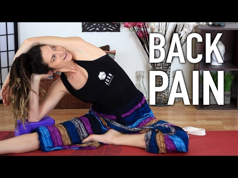 Three Stretches For Back Pain Relief - Yoga Stretches For Back & Sciatica Pain Relief