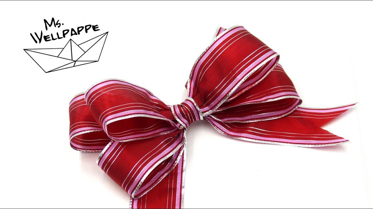 Berühmt einfache Geschenkschleife selber basteln - DIY - YouTube UG32