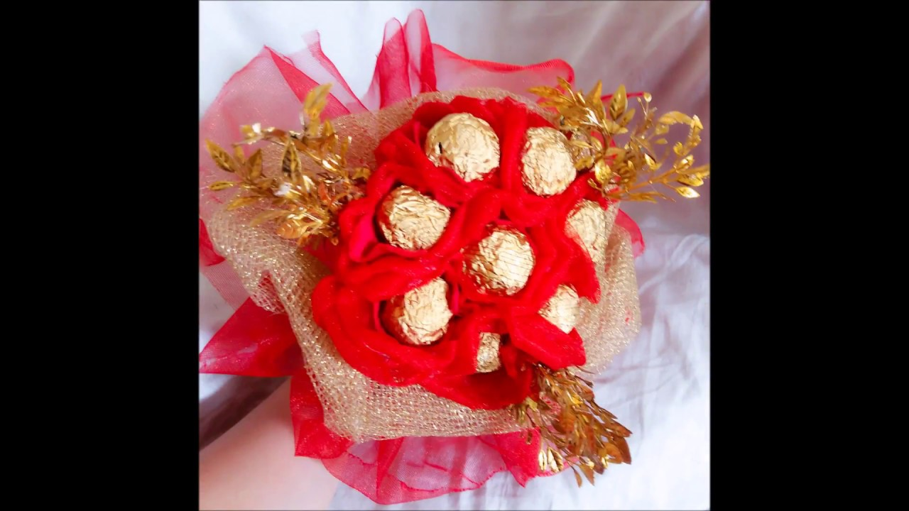 DIY-CHOCOLATE BOUQUET-how To Make Chocolate Bouquet For Ur