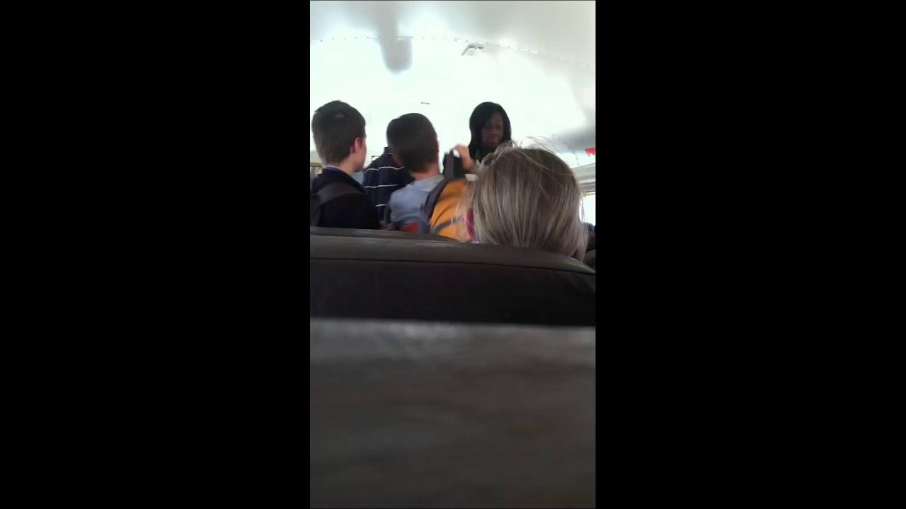 Girls fuck lucky guy on bus