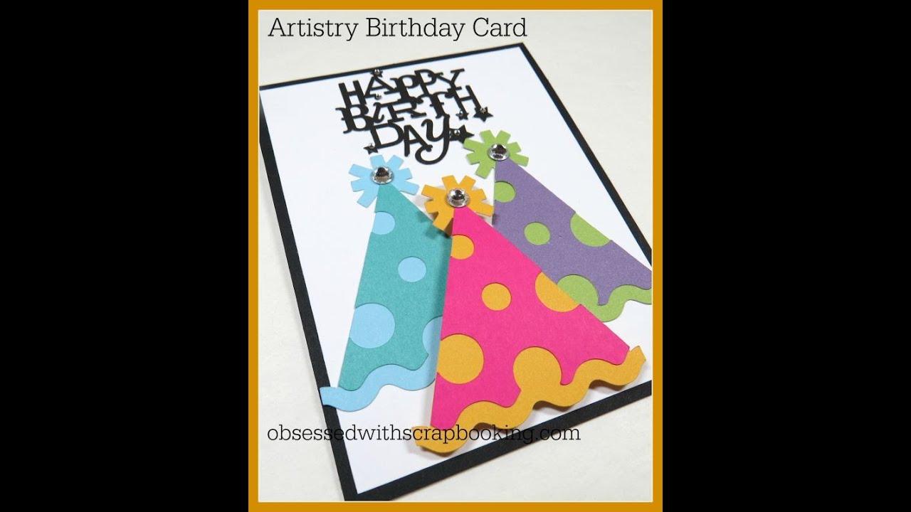 Artistry Cricut Birthday Party Hat Card