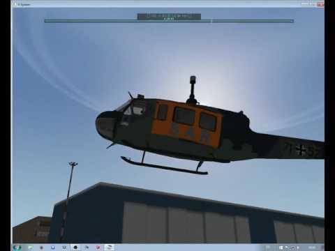 Xplane Bell UH 1D SAR Hamburg 71 Landung