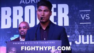 """MIKEY GARCIA SENDS STERN MESSAGE TO ADRIEN BRONER: """"HE KNOWS IT AIN'T NO EASY FIGHT FOR HIM"""""""