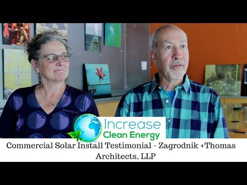 Increase Clean Energy Commercial Solar Install - Zagrodnik + Thomas Architects, LLP