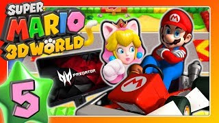 SUPER MARIO 3D WORLD 🐱 Part 5: Mario Kart Level & Saisonales Schwärmen auf Acer Predator Monitor