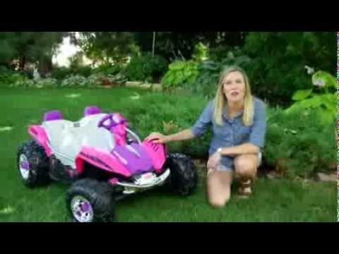 Fisher-Price Power Wheels Battery Operated Dune Racer Pink Riding Toy - Product Review Video