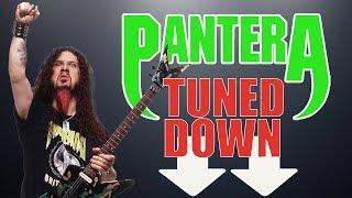 What if Pantera tuned down?! Pantera guitar riffs played in A Standard