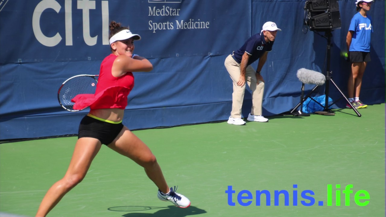 Bianca Andreescus Brilliant WTA Debut YouTube