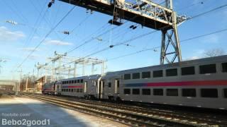 New Jersey Transit & Amtrak Trains at Princeton Jct, NJ RR (60FPS)